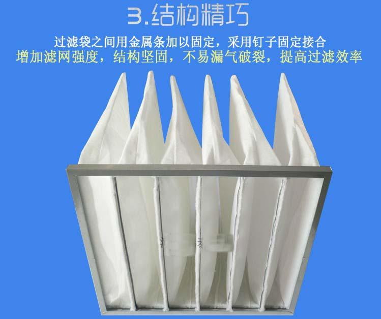 中效袋式空气过滤器结构特点