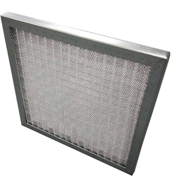 德州精久镀锌框金属铝网初效过滤器