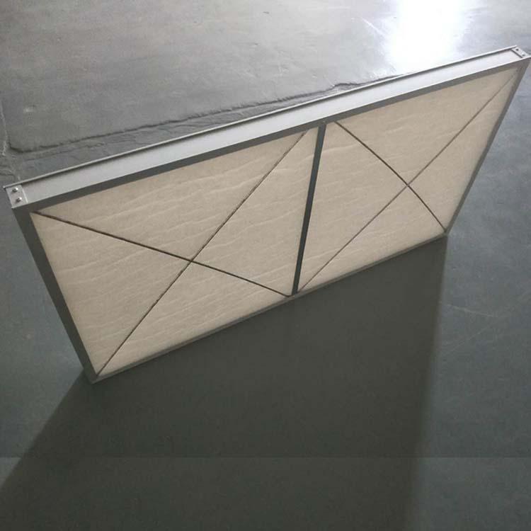 德州精久铝框平板初效过滤器进风面